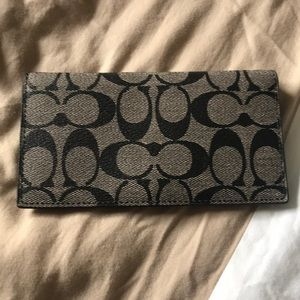 Coach checkbook wallet